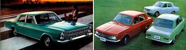 A Ford lançou o Galaxie em 1967 e o Corcel 1969
