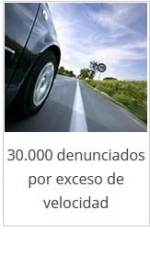 30.000 denunciados por exceso de velocidad.