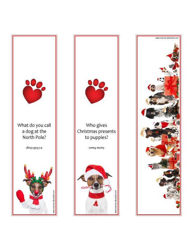 Santa Pups Bookmark