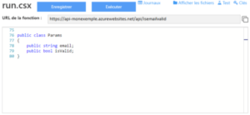 Exemple d'une function app d'Azure