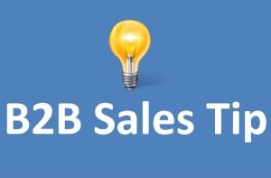 b2b Sales Tip