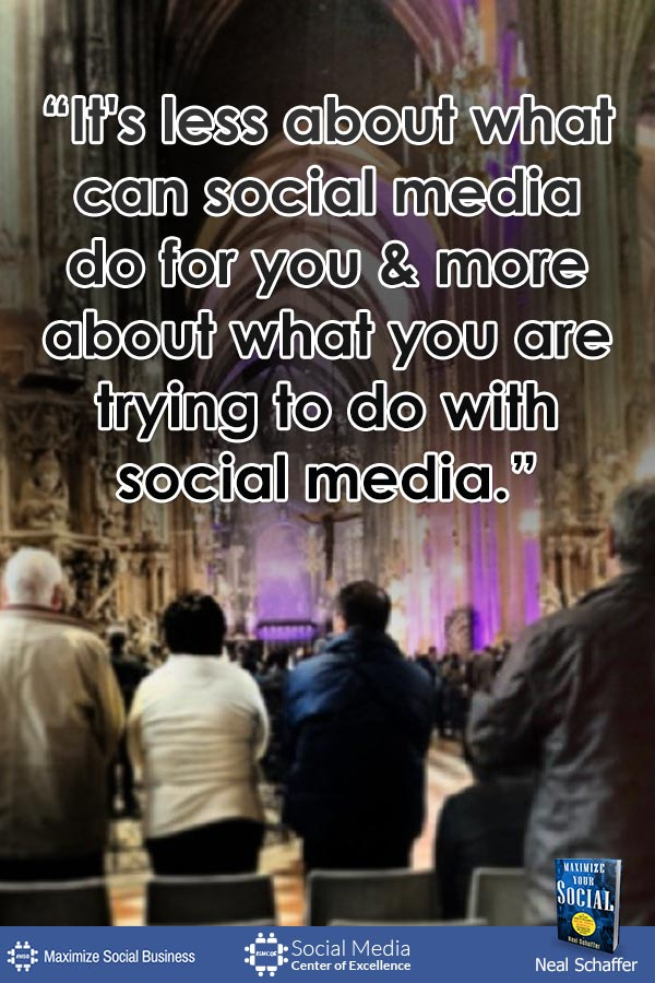 """""""It's Less About What Can Social Media Do For You and More About What You Are Trying To Do With Social Media"""" ~ @NealSchaffer #quotes #socialmedia #socialmediaquotes"""