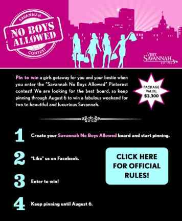 Savannah Pinterest Contest