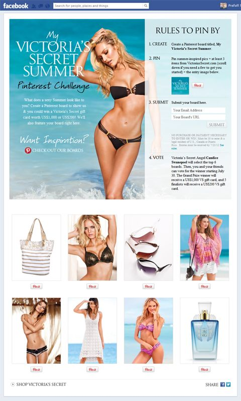 Victoria's Secret Pinterest Contest