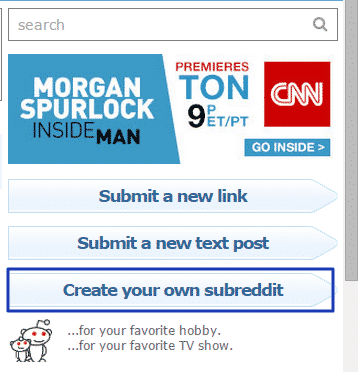 How to Design a Subreddit for Your Own Business, Service, or Program Reddit  create-subreddit-button