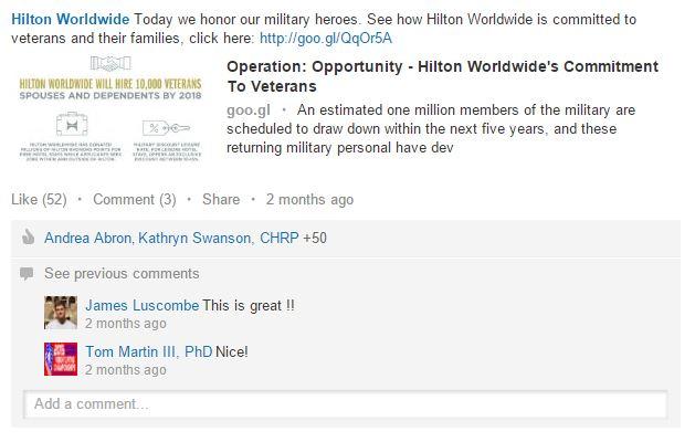 hilton veterans
