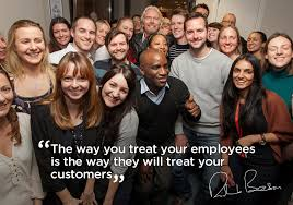 5 Ways to Engage Employees To Build A Better Customer Experience Customer Experience Marketing  Richard_Branson_treat_employees_well