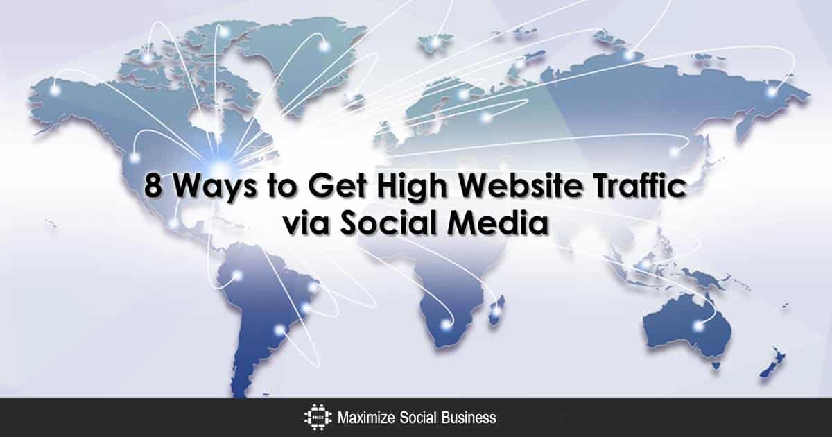 Eight ways to get more website traffic via social media fandeluxe Image collections