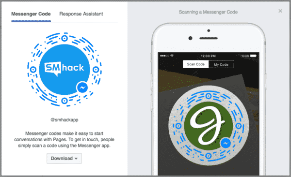 7 Awesome Ways to Leverage Facebook Messenger for Business Facebook  Facebook-Messenger-Code-600x366
