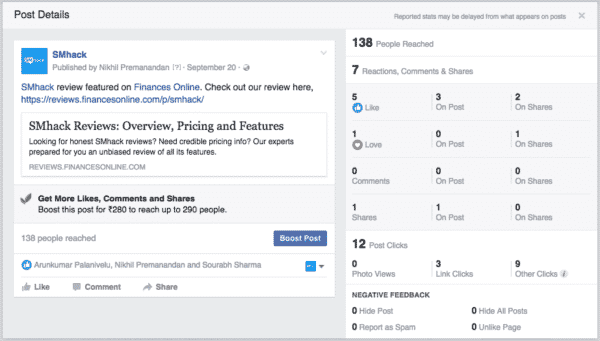 Seven Important Facebook Metrics You Should Not Ignore Facebook  Post-engagement-600x341