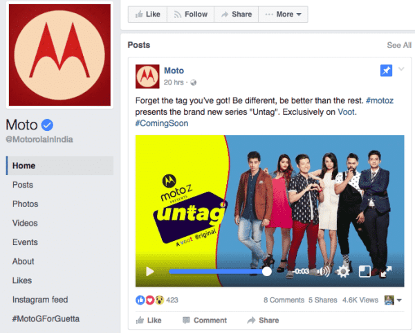 Motorola Sponsoring Content To Connect With Younger Audience