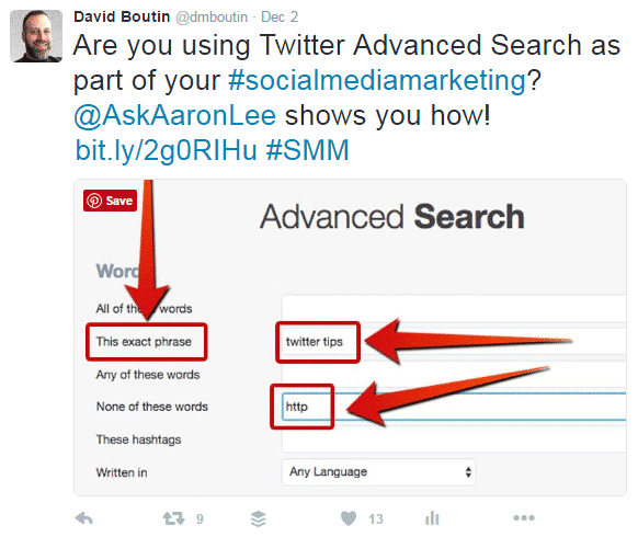 How to Get More Engagement on Twitter - 3 Elements of an Effective Tweet Twitter  how-to-get-more-engagement-twitter-advanced-search