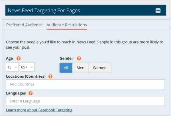 facebook targeting mavsocial social media tool
