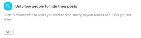 Unfollow People on Facebook