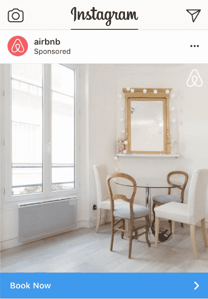instagram ad example airbnb