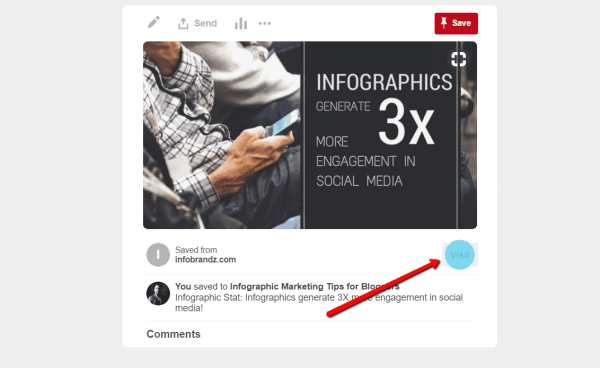 How to Use Infographics on Pinterest to Get More Website Traffic Infographics  Visit_Site-600x368