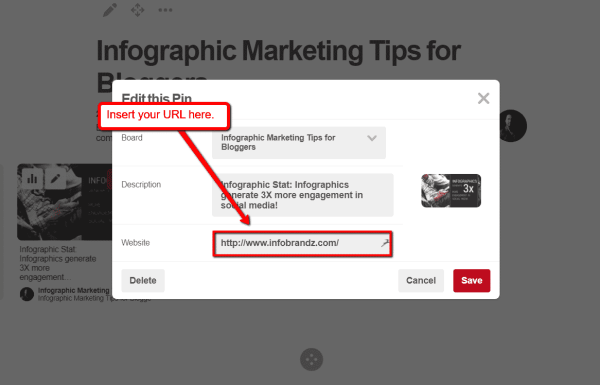 How to Use Infographics on Pinterest to Get More Website Traffic Infographics  Website_URL_Pin-600x385