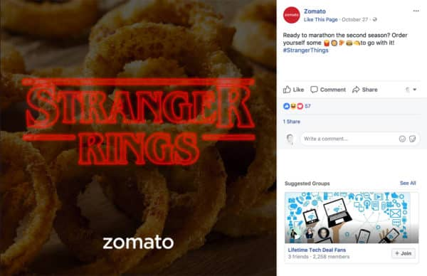 7 Types of Social Media Content to Create to Wow Your Fans Content Marketing  zomato-post-600x388