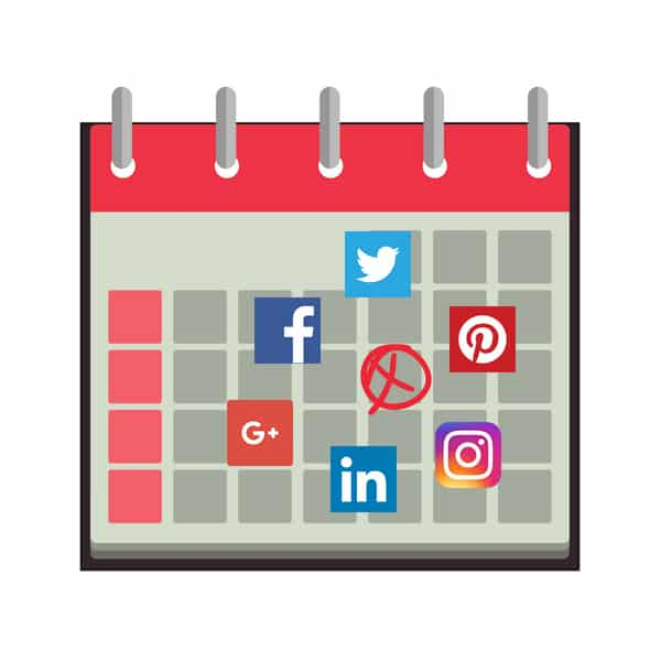 how to create and fill your social media calendar for a year