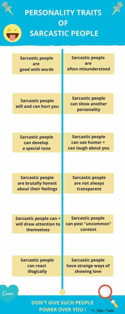Infographic: Personality traits of sarcastic people