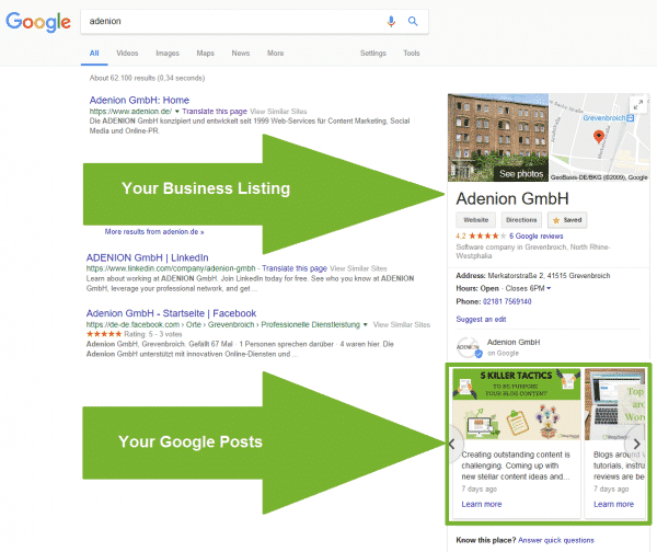 How to use Google My Business for Corporate Communication Corporate Communications  google-search-results_listing-posts-600x504