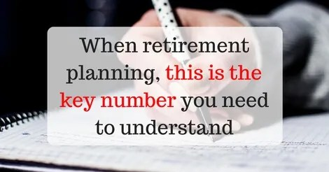 The key retirement planning number