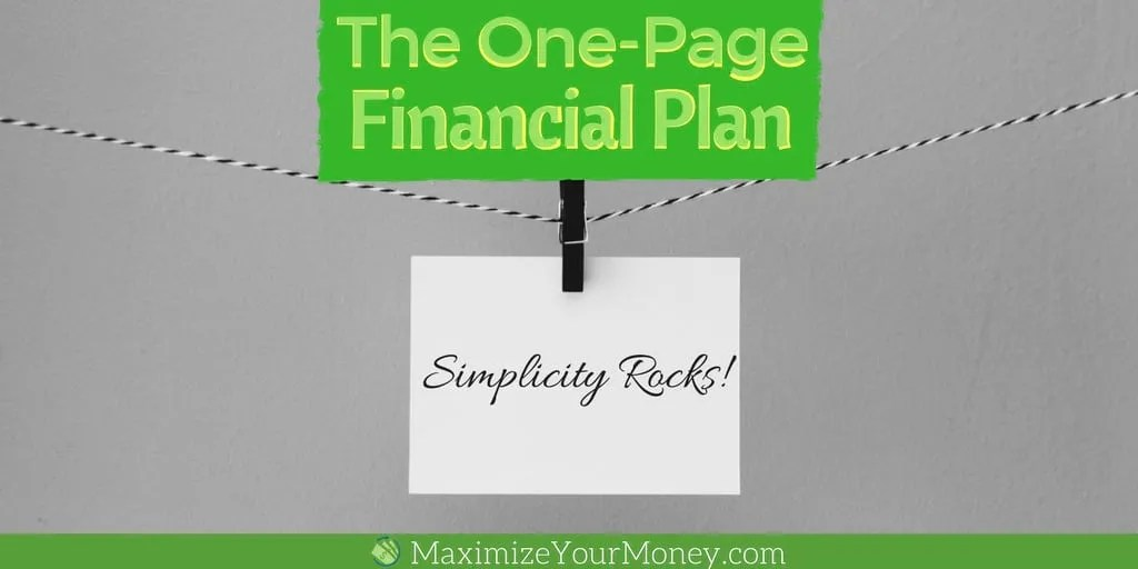 10 easy steps to a simple diy one page financial plan