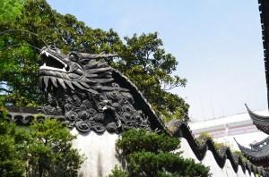 The Dragon Wall in Shanghai's Yu Gardens.