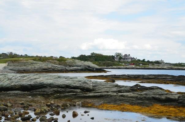 A rocky beach.