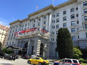 The Fairmont, holding court at the top of Nob Hill.