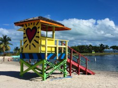 One of three colorful lifeguard stands at Homesteads Bayfront park - this one by Brito