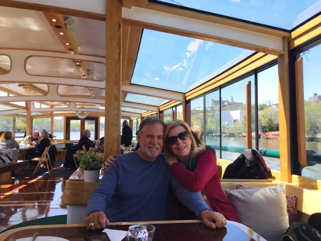 The husband and I enjoying the brunch cruise with Classic Harbor Line in NYC.