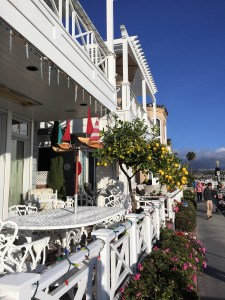 Walk along the water on charming Balboa Island, Newport Beach.