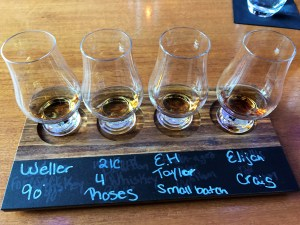 Bourbon flight at the Lockbox Bar at 21C.