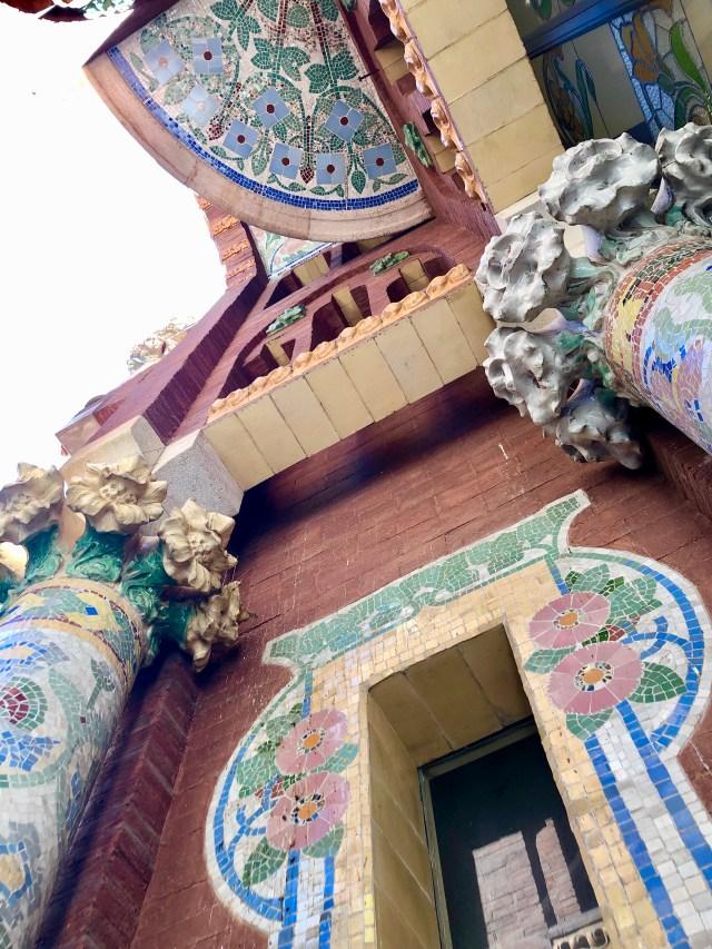 The artistry continues outside at Barcelona's iconic El Palau de la Música Catalana.