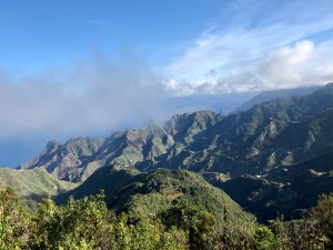 View from El Pico del Ingles in Tenerife, Spain.