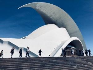 Auditorium designed by Spanish architect Santiago Calatrava, Tenerife, Spain.