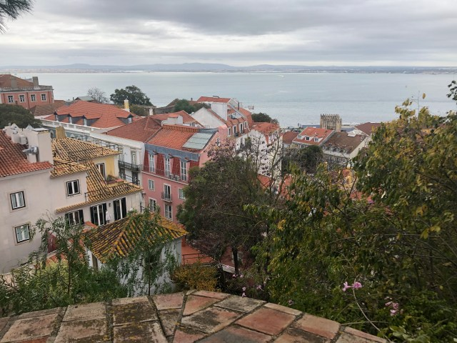 A view of Lisbon from the Barrio do Castelo.