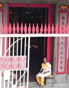 Doorway in Hong Kong, China.