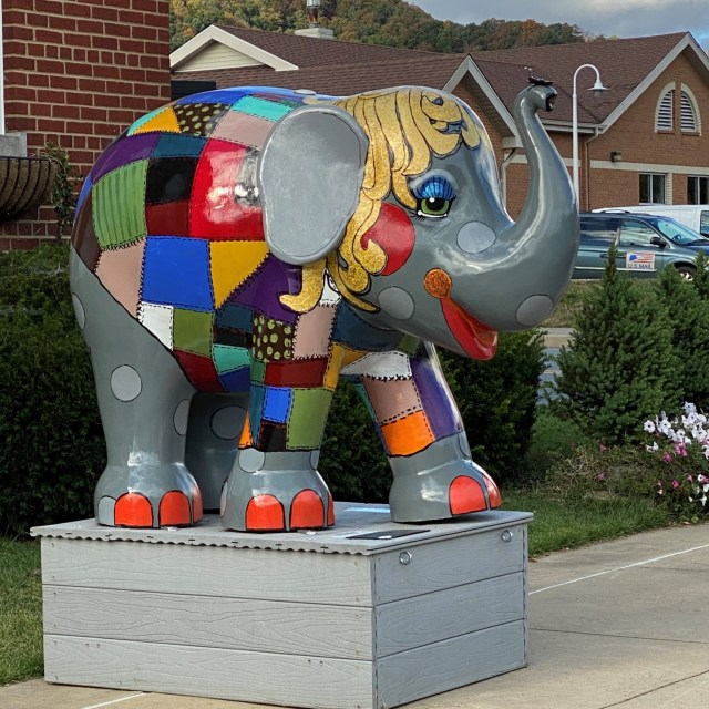 Erwin, Tennessee, artist-inspired elephant in support of elephant protection