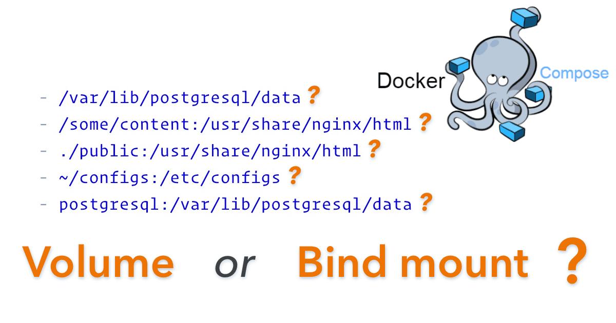 Docker Compose Syntax: Volume or Bind Mount?