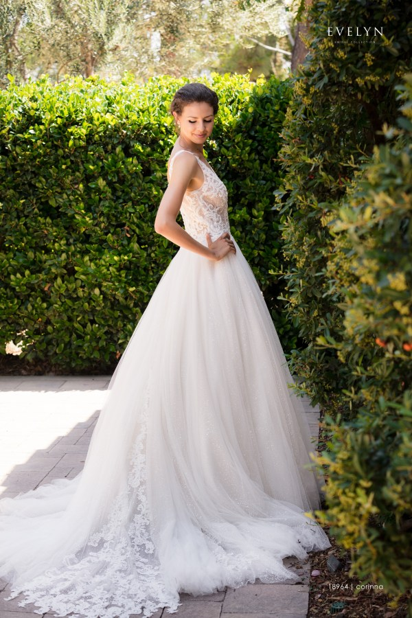 Wedding dress, Princess, Sparkle tulle, Lace, Maxims wedding