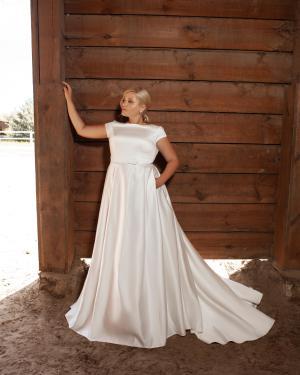 lace, tulle, crepe, satin, belt, plus size, Maxims wedding, gown, dress, wedding, A line, Mermaid, Boho, Princess, Ariamo