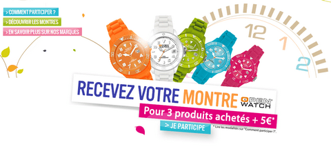 Promotion Gerblé montre open watch