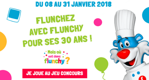 grand jeu anniversaire 30 ans flunch 258 cadeaux gagner maximum chantillons. Black Bedroom Furniture Sets. Home Design Ideas