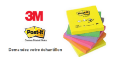 Échantillon gratuit du nouveau Bloc notes Post-it 3M Novec