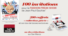 Grand Jeu San Marco Fashion Freak Show 1250 lots à Gagner