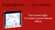 Sephora – Yves Saint Laurent : Trousse YSL Beauté offerte sur simple visite en boutique Sephora