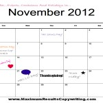 Looking Ahead – Marketing Calendar November 2012