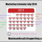 Looking Ahead – Marketing Calendar July 2014